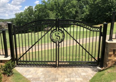 Steel Gate With Logo